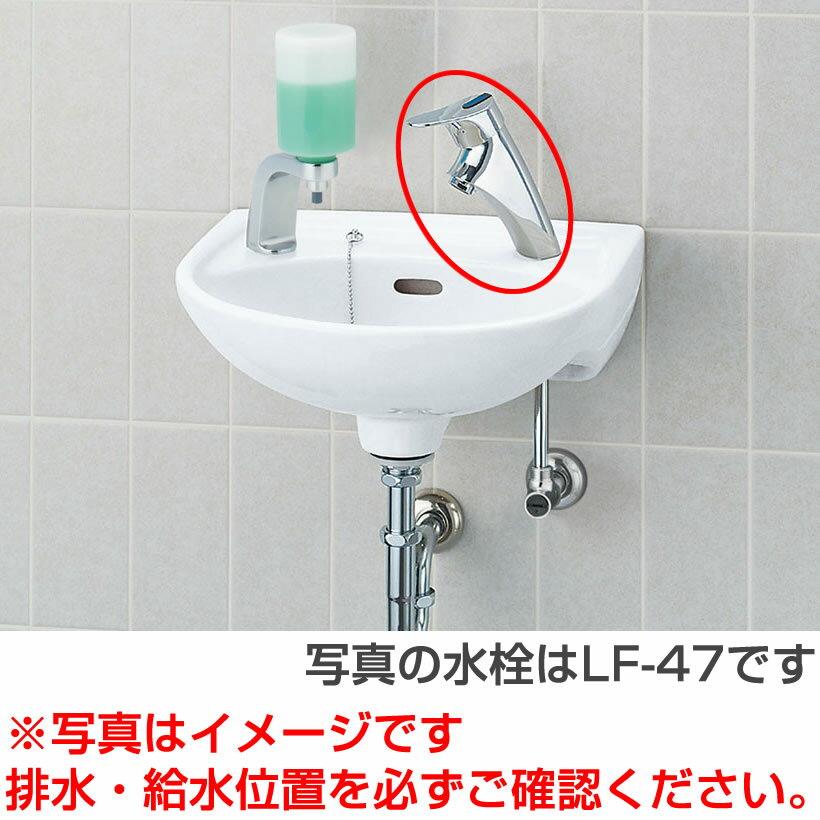 INAX LIXIL・リクシル 【L-15G セット】 手洗器 壁付式 水栓【LF-P02B】 床給水・床排水(Sトラップ)[新品]【RCP】