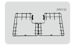 ノーリツ ハーマン ガスコンロ コンロオプション 全面補助ゴトク (75cm用) DP0132(左右2分割)【DP0132】[新品]【RCP】
