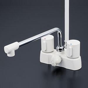 KVK 浴室 【KF2008ZG3在庫有り】 在庫処分につき特別特価 寒冷地用 デッキ形2ハンドルシャワー [新品]【RCP】