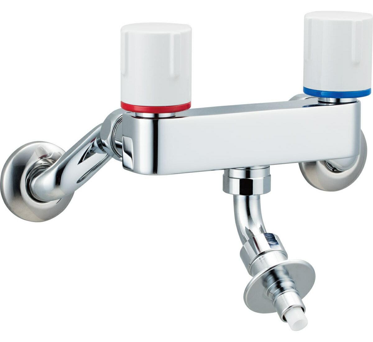 INAX[イナックス]・LIXIL[リクシル] 【SF-WL63RQ】 洗濯機用水栓金具 露出タイプ(屋内専用) 緊急止水弁付2ハンドル混合水栓 [新品]【RCP】