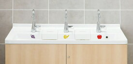 INAX・LIXIL 幼児用マルチシンク【PS-A30C6JDE】 カウンター高さ600mm マルチシンク用レバー水栓 電気温水器あり 床給水・壁排水 [納期1週間] 【メーカー直送のみ・代引き不可・NP後払い不可】[新品]