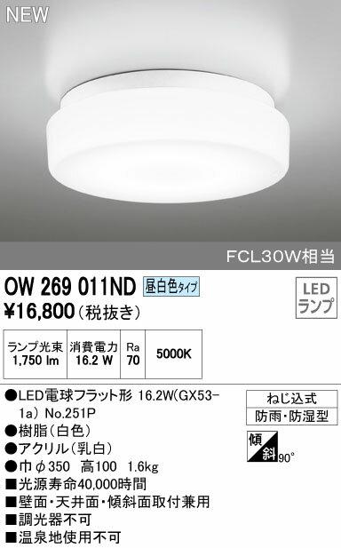 オーデリック インテリアライト バスルームライト 【OW 269 011ND】OW269011ND[新品]【RCP】
