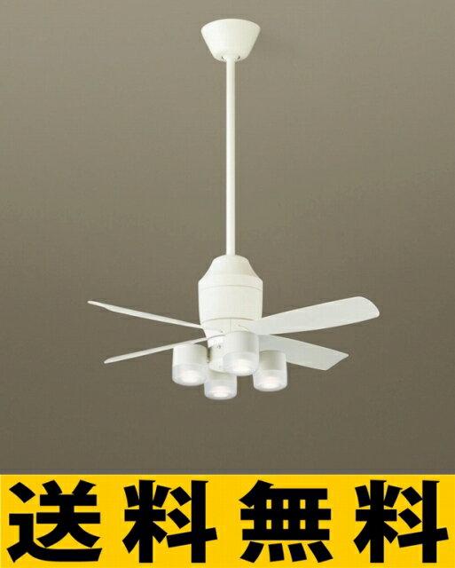 パナソニック 照明 直付吊下型 LED(電球色) シーリングファン(照明器具付) 美ルック・60形ダイクール電球4灯相当・5W・集光タイプ 風量4段切替・逆回転切替・1/fゆらぎ・3時間タイマー 【XS75275】[新品]【RCP】