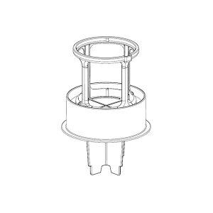 シャープ[SHARP] シャープ 掃除機用 筒型フィルター(下)(217 221 0600) 【2172210600】