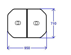 TOTO 軽量把手付組み合わせ式ふろふた(外寸:950×710mm)【PCF1000R#NW1】【pcf1000rnw1】[新品]【RCP】