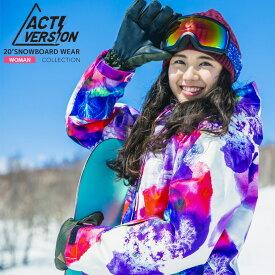 新作19-20 レディース スノーボードウェア上下セット スノボウェア スキーウェア ACTI