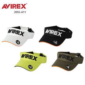 AVEREX(アビレックス)GOLF/20SS-A11 バイザーアメカジテイストなツイル素材にAVIREXの立体刺繍とつばのエアフォースマークが個性を主張するバイザーアイテム。