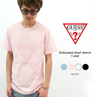 c3c336413c70d1 Categories. « All Categories · Men's Clothing · Tops · T-shirts & Tank Tops  · GUESS ゲスメンズ short sleeves embossing ...