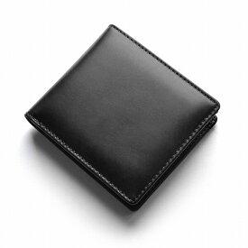 メンズ 財布 キャメル レザー オイルドレザー オール牛革 紳士 二つ折り 短財布 フルレザー ブラック 黒 ブラウン 茶