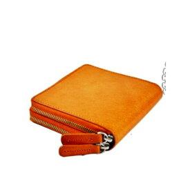 【送料無料】 二つ折り財布 メンズ 男性 紳士 水牛革 バッファロー ダブルラウンドファスナー 本革 水牛皮 レザー ブランド