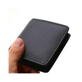 メンズ カーボンレザー コインケース 革 ブラック 黒 メンズ 財布 小銭入れ カーボン ブラック