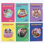 ディズニーランド限定クリアホルダーファイル6枚セット文房具東京ディズニーリゾートディズニー公式