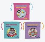 ディズニーランド限定きんちゃく巾着袋3枚セットコップ入れ袋小物ポーチ東京ディズニーリゾートディズニー公式