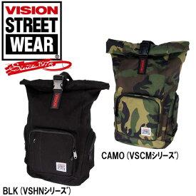 VISION(ヴィジョン) バックパック ロールトップ リュックサック 「VSHN-501 VSCM-501」 スケート ストリート 通勤 通学