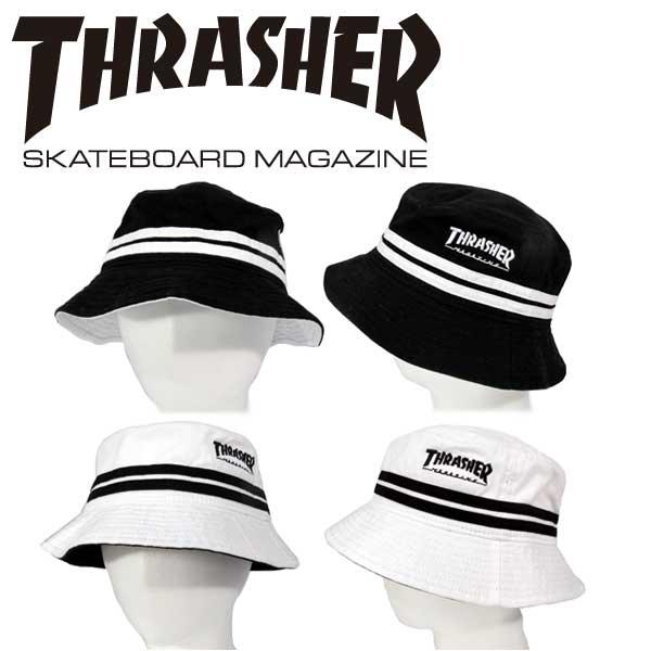THRASHER/スラッシャー バケット ハット MAG LOGO 刺繍 裏メッシュ 帽子 メンズ レディース ストリート カジュアルファッション スケーター ヒップホップ B系「16TH-H10」