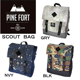 PINE FORT【パインフォート】SCOUT BAG リュックサック バックパック スクエア フラップ ディパック アウトドア タウンユース 通勤 通学 旅行 PNF-163001/在庫処分/SUMMERSALE