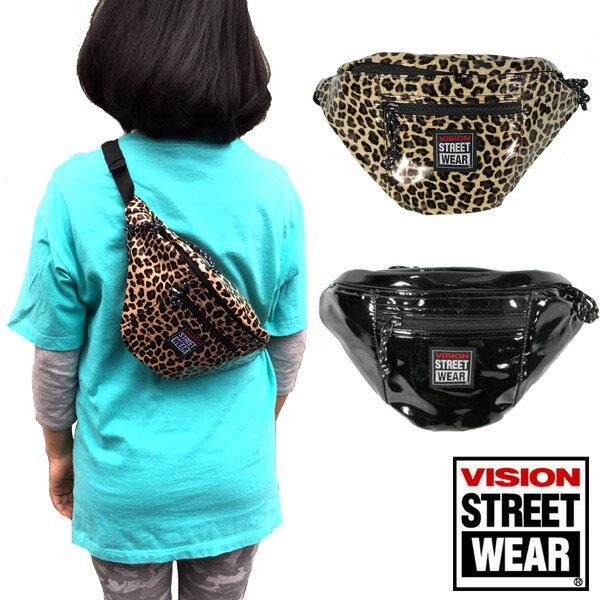 VISION(ヴィジョン) エナメル ウエストバック メンズ レディス ヒップバック ポーチ VSEN-200 ビジョン 軽量 防水 スケート ストリート 遠足通勤通学/