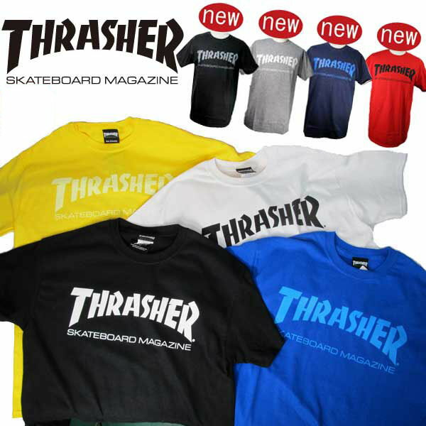 THRASHER スラッシャー MAG LOGO TEE メンズ 半袖 Tシャツ「TH8101」アメリカサイズ ストリート カジュアルファッション スケーター スケボーブランド