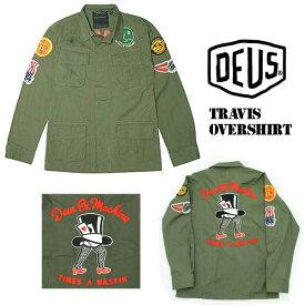 DEUS EX MACHINA[デウスエクスマキナ]TRAVIS OVER SHIRT シャツジャケット/DMP76336/アウター メンズ シャツ ミリタリー 刺繍 ワッペン バイカー サーフィン