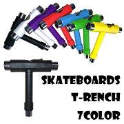【Tレンチ】スケートボード専用7色/スケボー用/T型レンチ/スケートツール/工具/メンテナンス/コンパクト/02P18Jun16