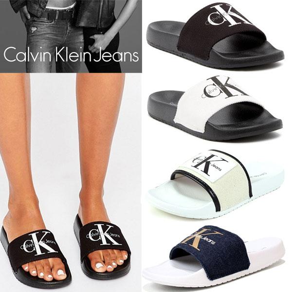 Calvin Klein Jeans カルバンクライン ジーンズ レディース RUBBER SANDALS ラバー サンダル 女性用 シャワーサンダル スリッパ 34r9587/34r8806/34r4104