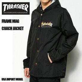 THRASHER スラッシャー FLAME MAG COACH JACKT フレーム&マグロゴ メンズ ストリート スケーター スケボーブランド 314503(144570)