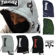 【THRASHER】スラッシャーフードウォーマーネックウォーマー16TH-K52メンズ/レディススエット/フリースマフラー防寒/スケートサーフ