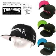 THRASHER/MarkGonzalesキャップ平ツバ帽子CAP[15TH-C05]正規品/スラッシャーキャップ送料無料帽子スナップバックブラックホワイトピンクライムブルーGONZARTゴンズマークゴンザレス男女兼用