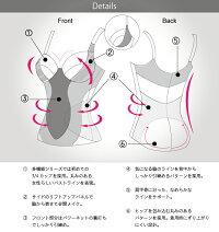 『東レ・シルックラフール』素材使用多機能補正下着ノンワイヤーボディスーツ