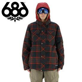 686 メンズ スノージャケット [ジャケット単品] スノボウェア スノボーウエア チェック柄 ネルシャツ風