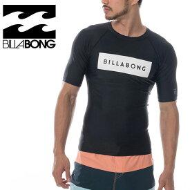 メンズ ラッシュガード ブラック 半袖 Tシャツ ビラボン プルオーバー ストレッチ AJ011852 BLK