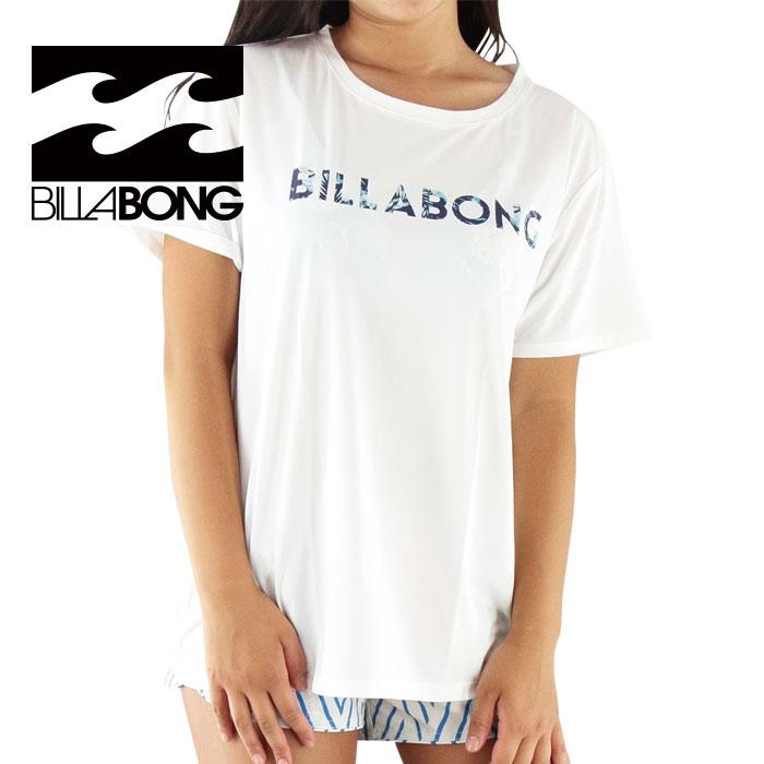 セール BILLABONG AH013890 WHT ビラボン レディース ラッシュTシャツ UPF50+ 白 半袖ラッシュガード