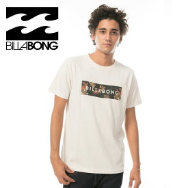 BILLABONG AI011201 ROC / UNITED BOX LOGO ボックスロゴ ビラボン メンズ 半袖 白 Tシャツ