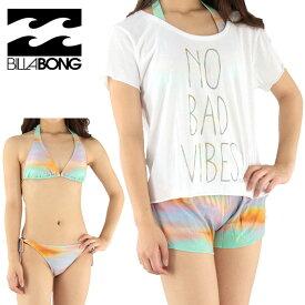 BILLABONG レディース ホルタービキニ3点セット ビラボン 水着 ビキニ ボードショーツ Tシャツ AG013822