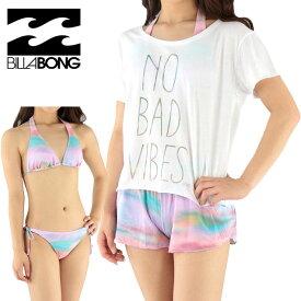 セール ビラボン 水着 3点セット ビキニ ボードショーツ Tシャツ レディース BILLABONG AG013822