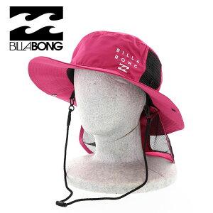 ビラボン ハット UVカット レディース ロゴ HAT BA013938 BILLABONG サーフハット ピンク