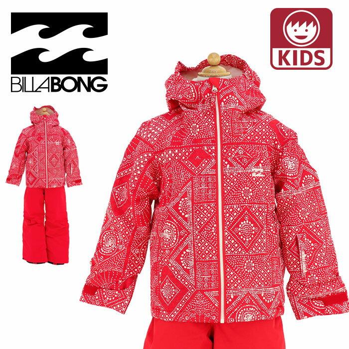 子供用 スノーボードウェア ビラボン キッズ スノボジャケット レッド 赤色 女の子 BILLABONG AH01K752
