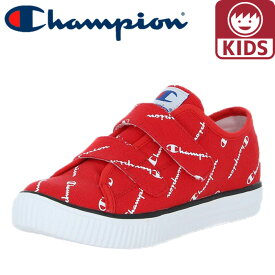 チャンピオン キッズスニーカー キッズセンターコート STRAP 軽量 CP KC002 赤色 レッド