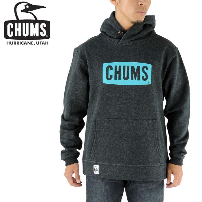 プルオーバー パーカー 黒 チャムス 2017年秋冬新作 CHUMS スウェット ロゴプリント メンズ トレーナー