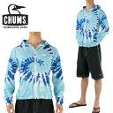 チャムス CHUMS 長袖ラッシュガード ラッシュパーカー ジップアップ フード付き 速乾性 CHUMS タイダイ柄 通販 販売 …
