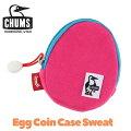 【メール便対応】チャムス-エッグコインケース-ピンク-CHUMS-スウェット素材-小物入れ-カラビナ付き