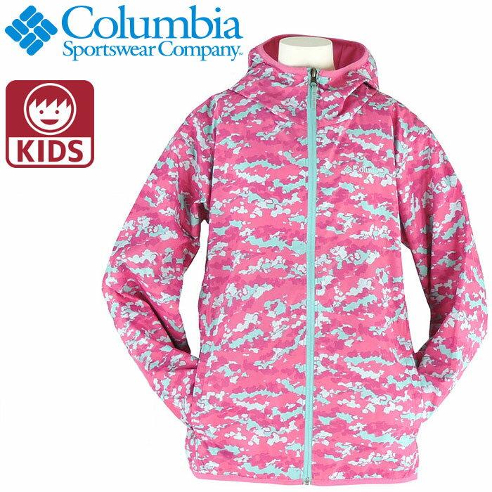 コロンビア マウンテンパーカー キッズアウター COLUMBIA ガールズジャケット 女の子 防水 KY3714 迷彩柄