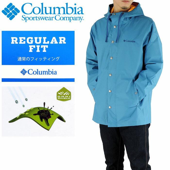 【セール】COLUMBIA 撥水 マウンテンパーカー メンズアウター コロンビア ブルー PM5480 400