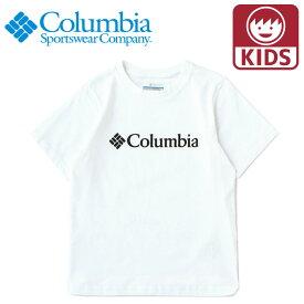 コロンビア Tシャツ AY0090 半袖ベーシックロゴユースショートスリーブT キッズ シンプル 子供用 COLUMBIA