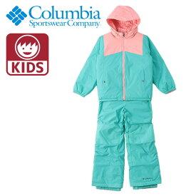 COLUMBIA スノーウェア 上下セット キッズ コロンビア パンツ ジャケット リバーシブル 撥水 SY1093