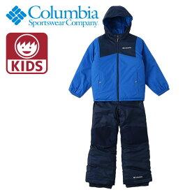 キッズ コロンビア パンツ スノーウェア上下セット リバーシブル 撥水 中綿 ジャケット 赤 SY1093