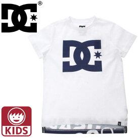 Tシャツ ディーシーシューズ キッズ 白色 ロゴ ホワイト 子供服 半袖 ジュニア 子供用 DCSHOES 7226J807