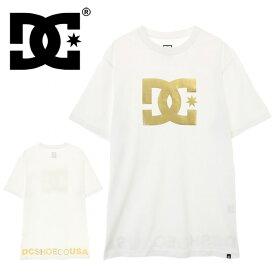 DC ディーシーシューズ メンズファッション 半袖 Tシャツ ホワイトゴールド 白T DCSHOES