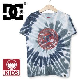 DC ディーシーシューズ 子供用 半袖Tシャツ タイダイ柄 DCSHOES ジュニアサイズ 小学生 中学生