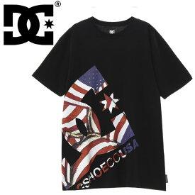 ディーシーシューズ 星条旗柄 DC ロゴ プリントTシャツ メンズ 半袖 DCSHOES 5226J918 ブラック